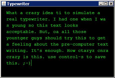 Java Typewriter